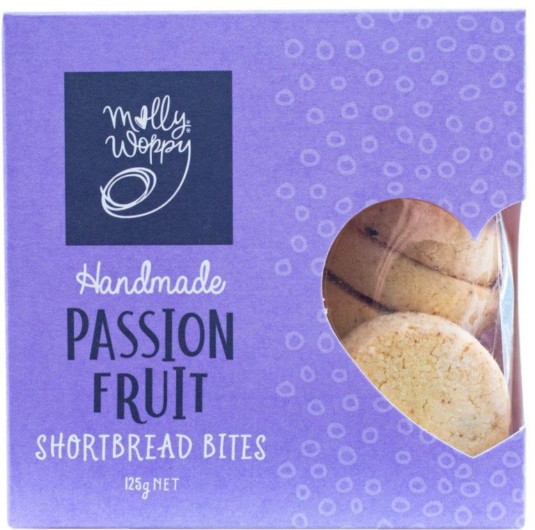 Molly Whoppy Passionfruit Shortbread Bites