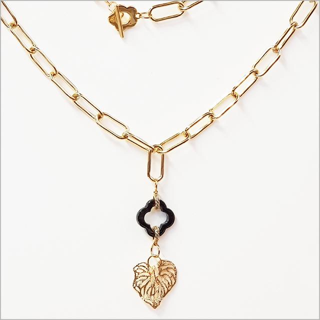 Crystal Ashley - Kawakawa Leaf Charm Necklace
