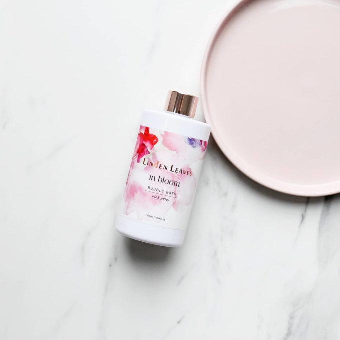 Linden Leaves Pink Petal Bubble Bath