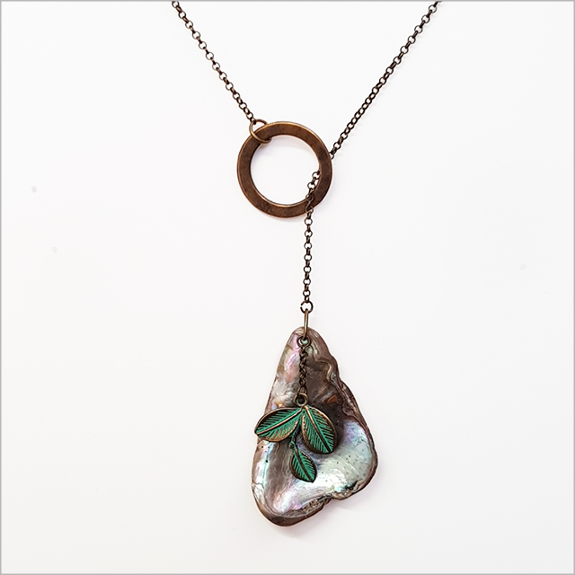 Crystal Ashley - Circle Paua Necklace