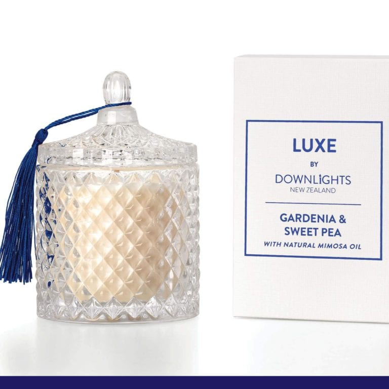 Down Lights Gardenia & Sweet Pea Luxe Candle