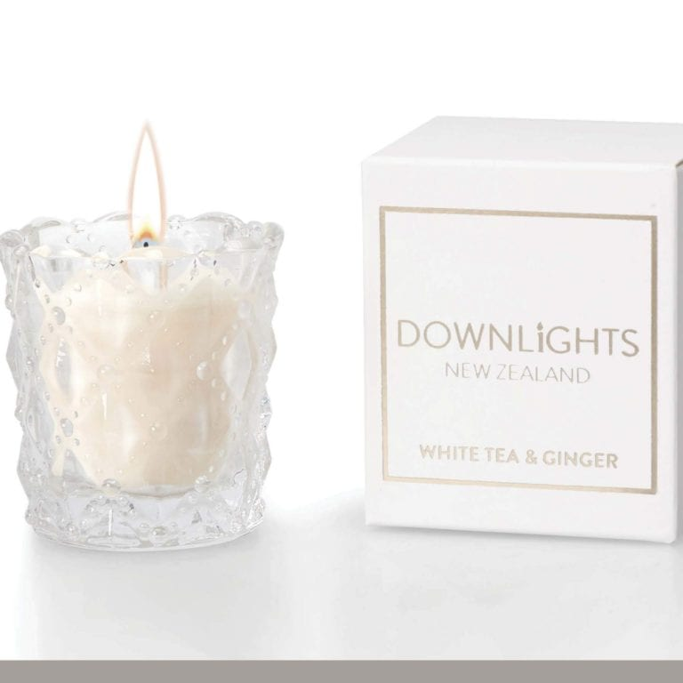 Down Lights White Tea & Ginger Mini Candle