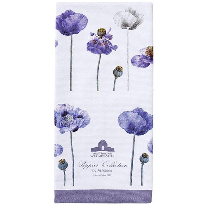 Ashdene Poppies Tea Towel