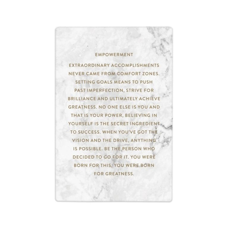 Ceramic Life Quote - Empowerment
