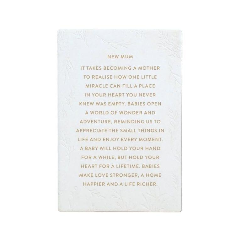 Ceramic Life Quote- New Mum