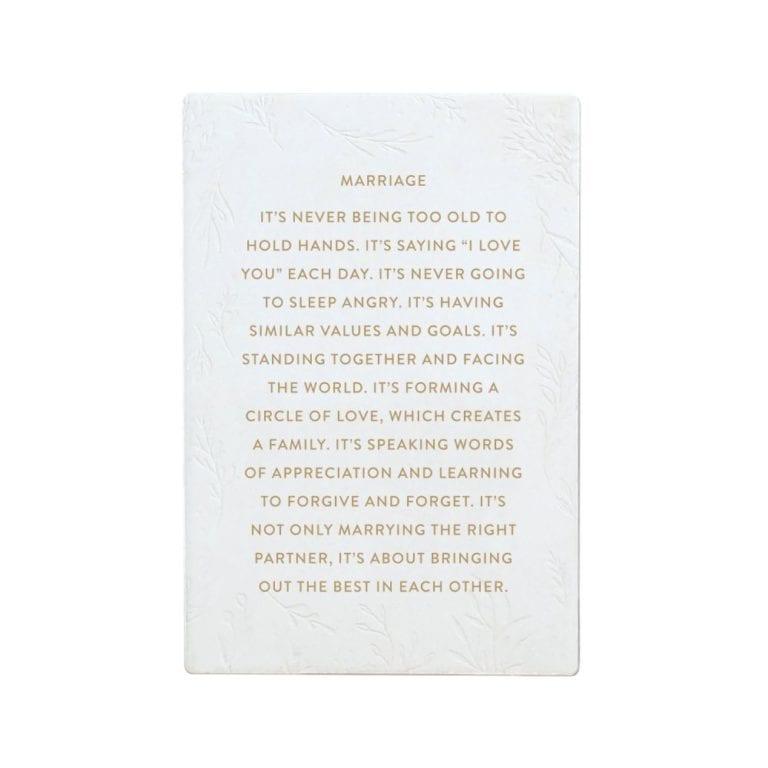 Ceramic Life Quote - Marriage
