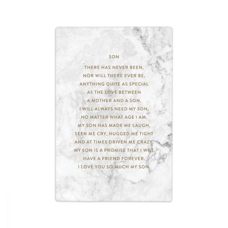 Ceramic Life Quote - Son